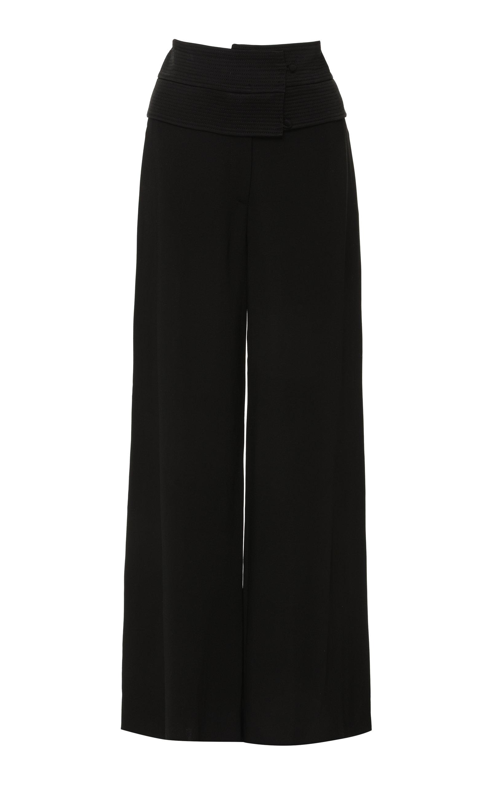 ARJE Obi Stretch Viscose Pants in Black