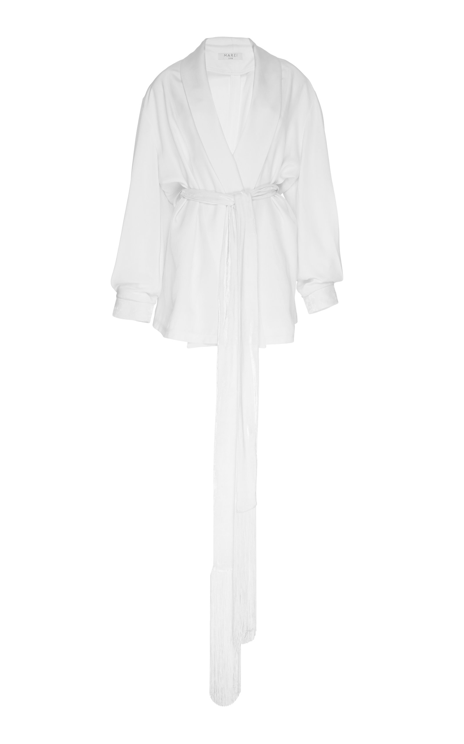 MAREI 1998 Nolana Silk Cardigan in White