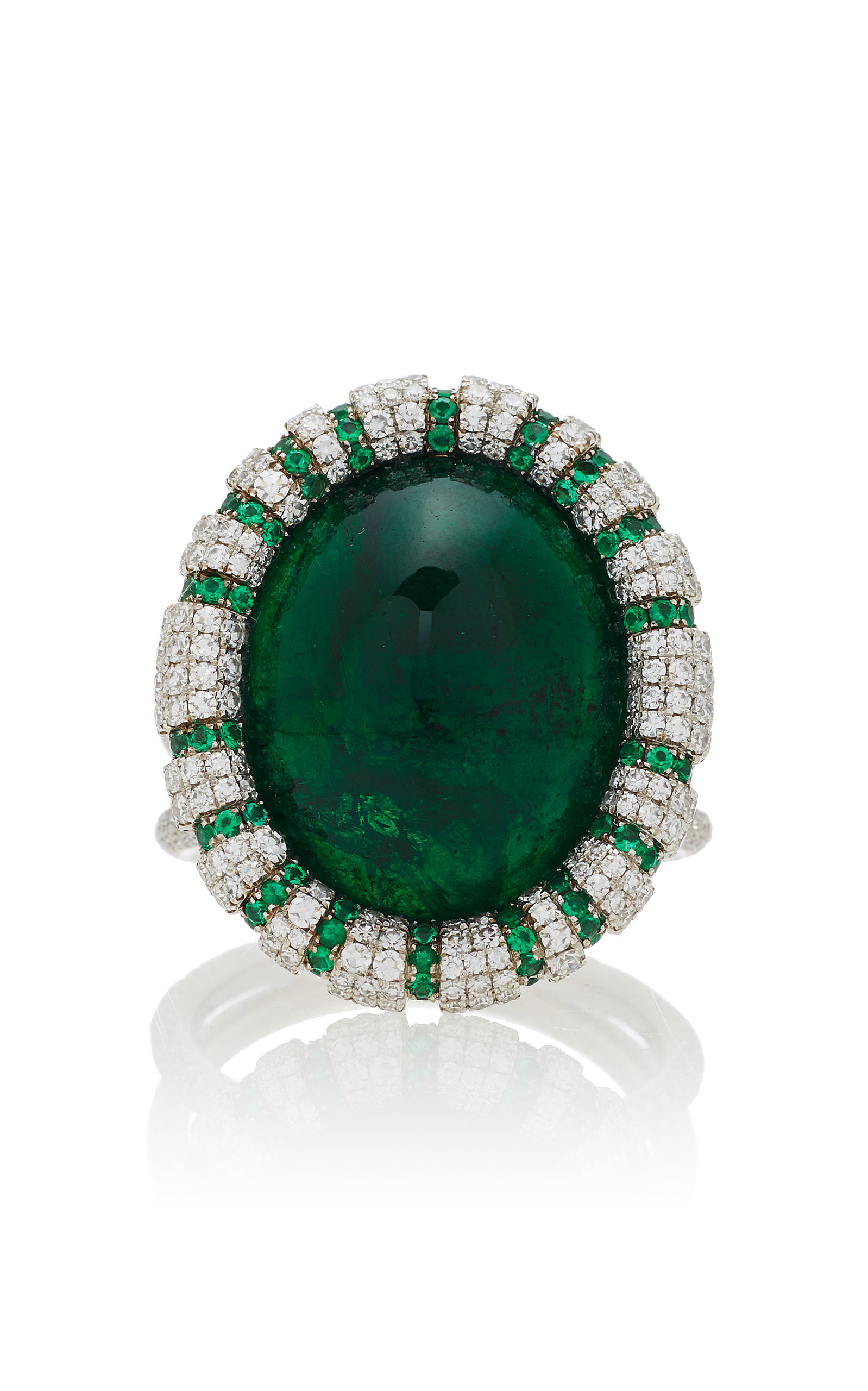emerald brilliant cut bukobject an by en lots ruby fullsize surrounded oval diamonds ring and sapphire