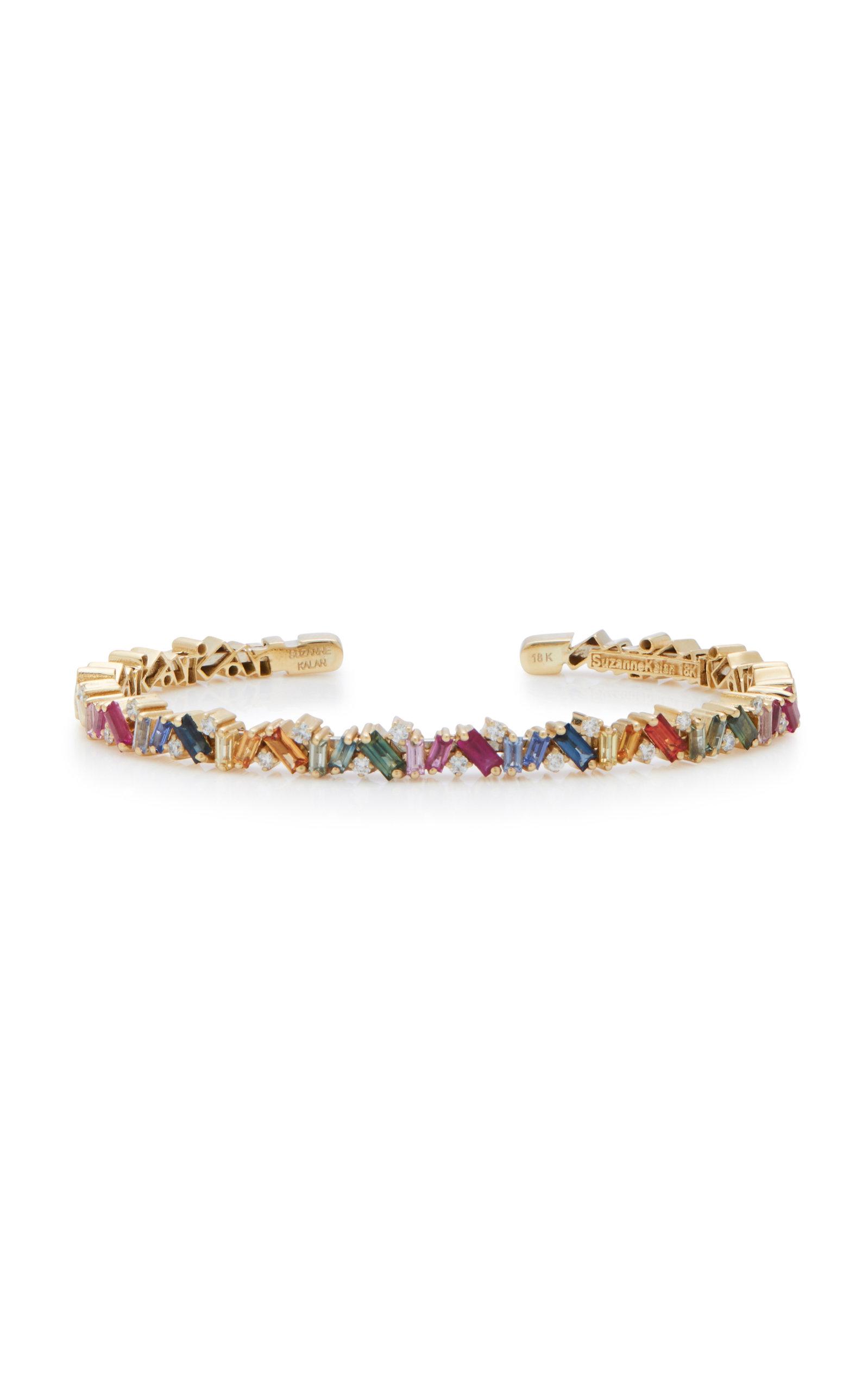 Suzanne Kalan 18K GOLD RAINBOW SAPPHIRE AND DIAMOND BRACELET