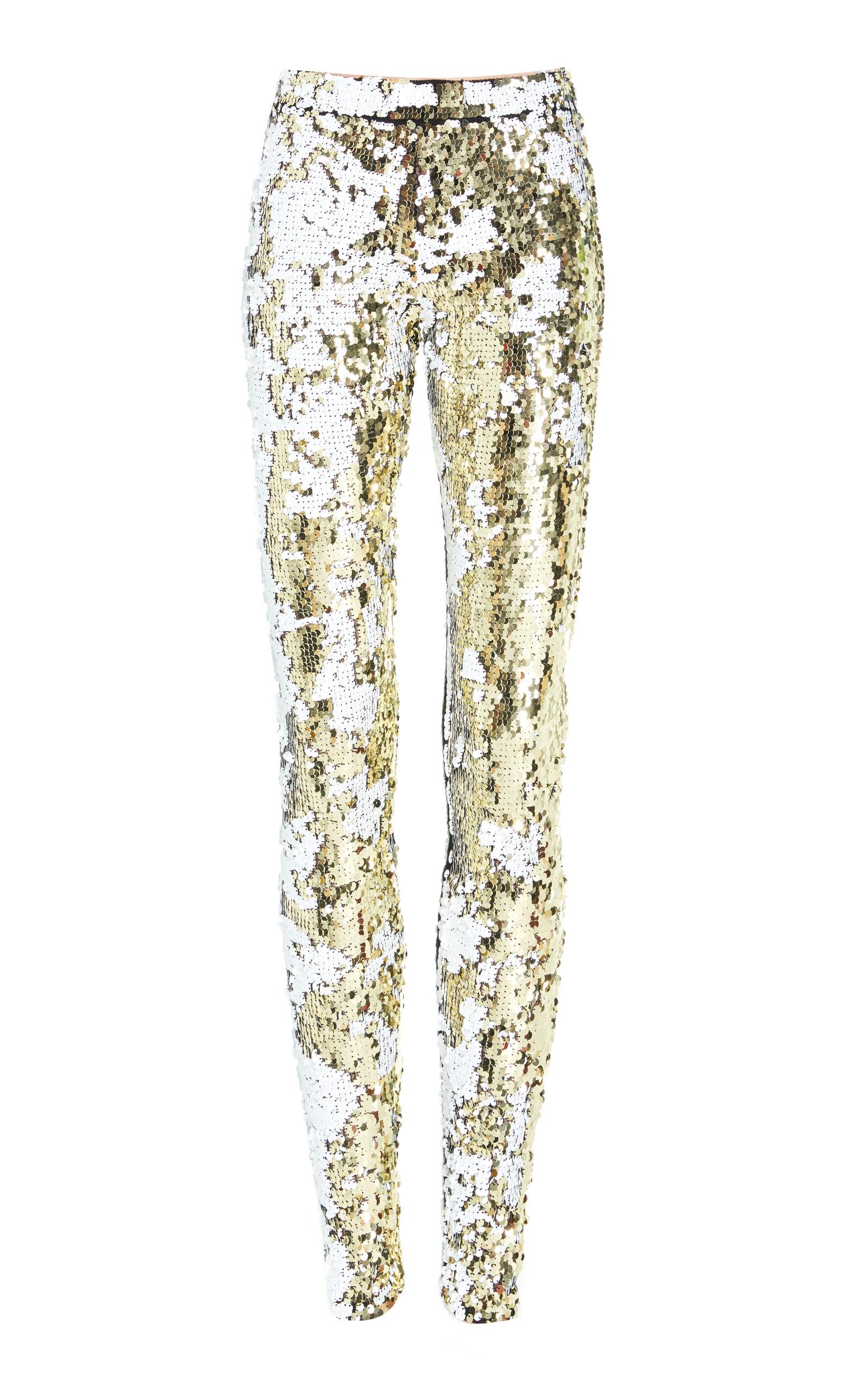 ALENA AKHMADULLINA Metallic Trouser in Gold