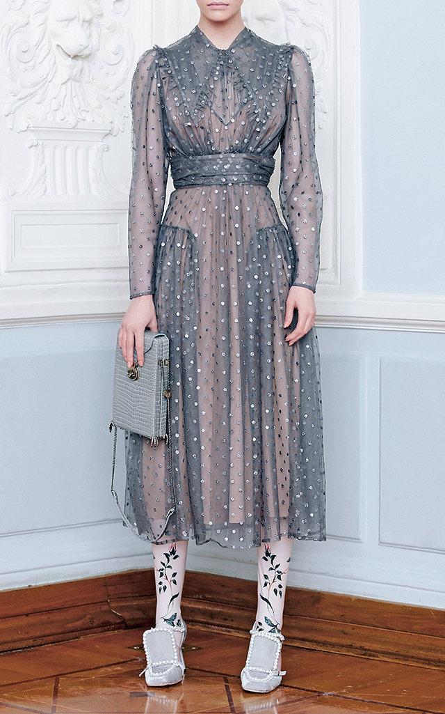 ALENA AKHMADULLINA Tulle Midi Dress in Grey