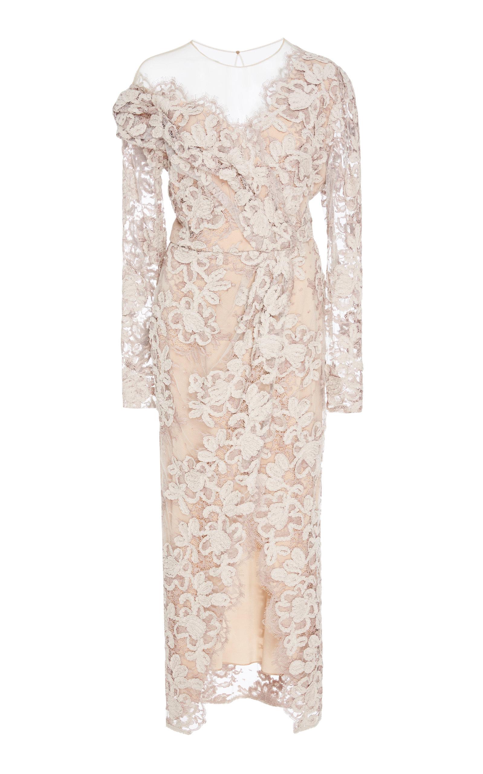 ALENA AKHMADULLINA Lace Midi Dress in Pink