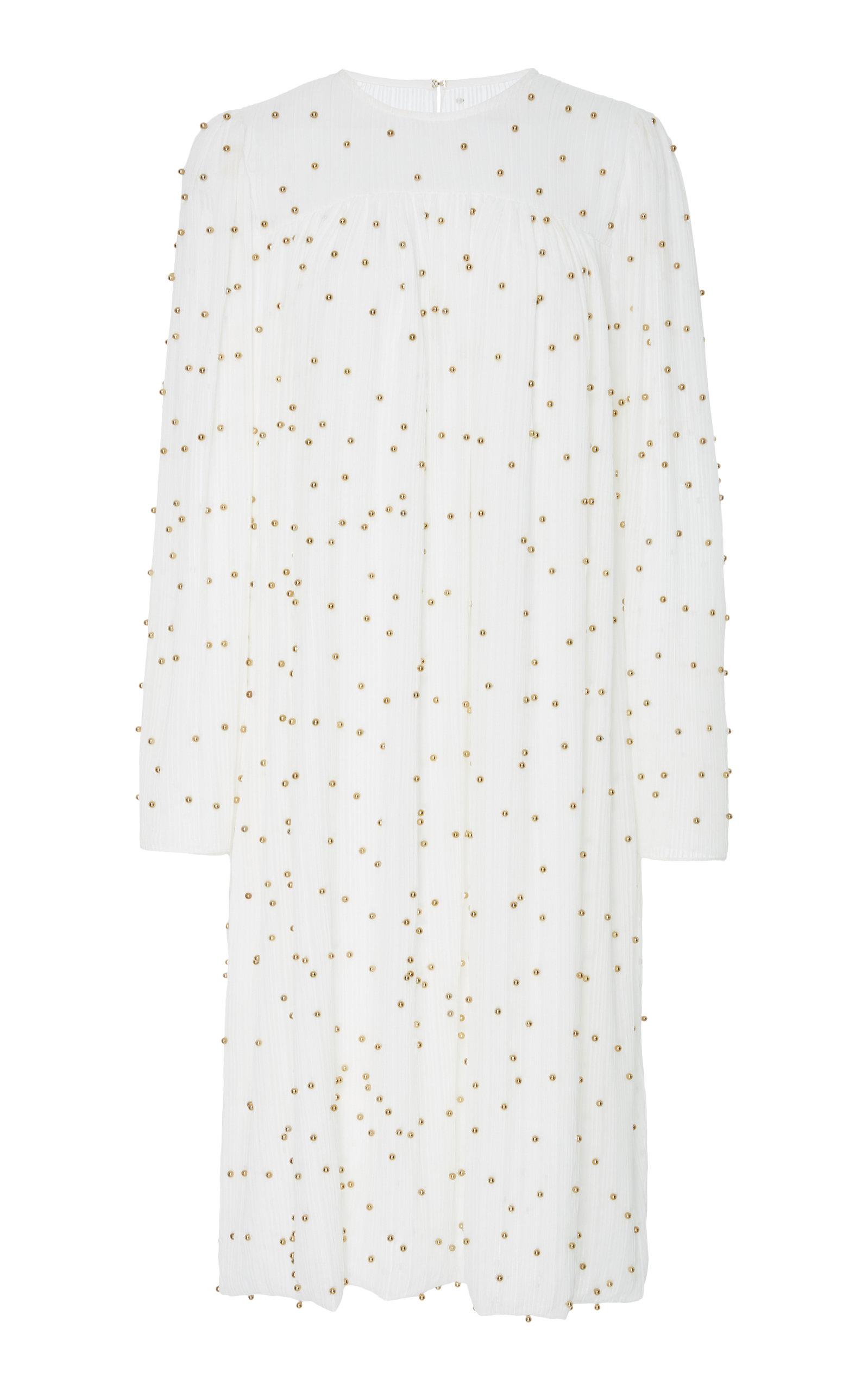 ALENA AKHMADULLINA Pearl Embroidered Dress in White