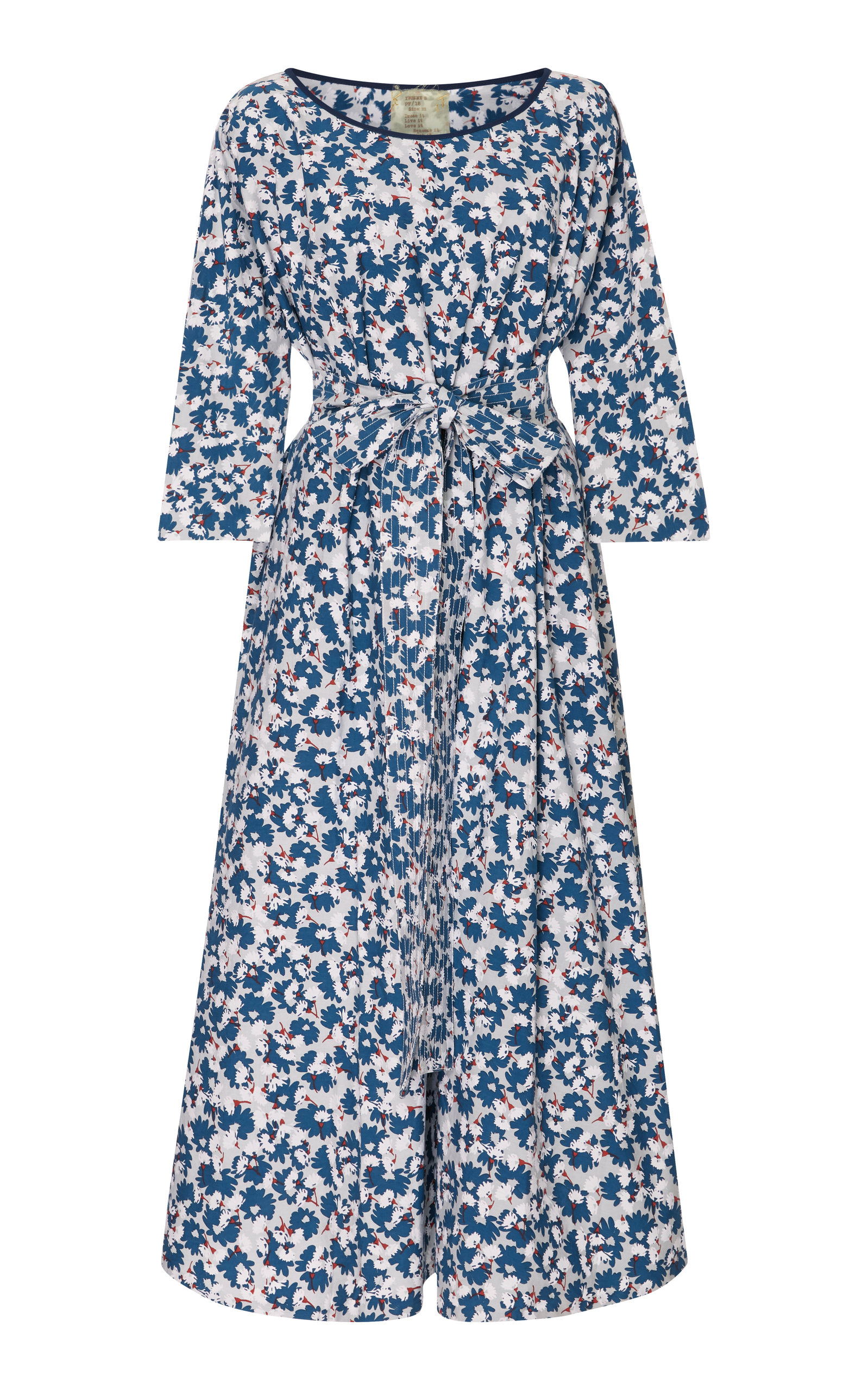 eee97dc35 Belted Printed Stretch-Cotton Midi Dress by Yvonne S | Moda Operandi
