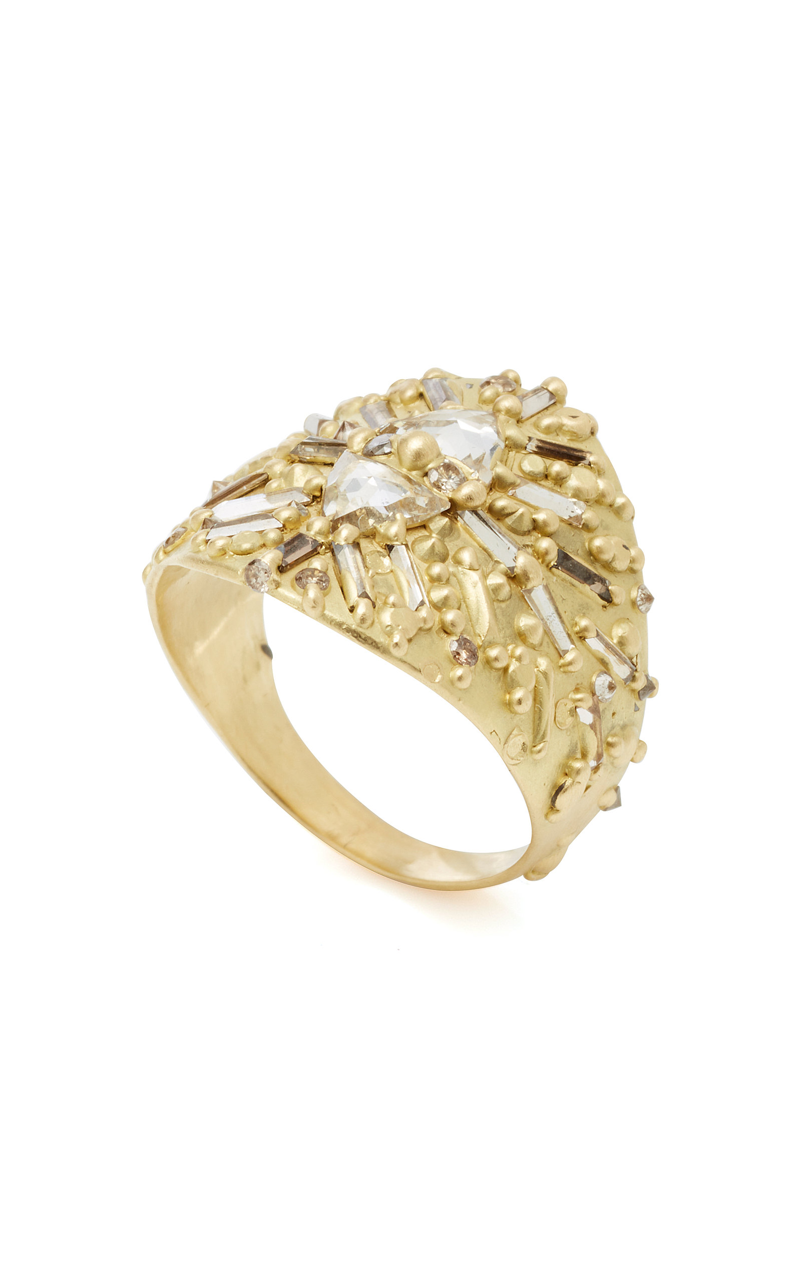 chrono diamond gold deco ring antique art envy products white shield