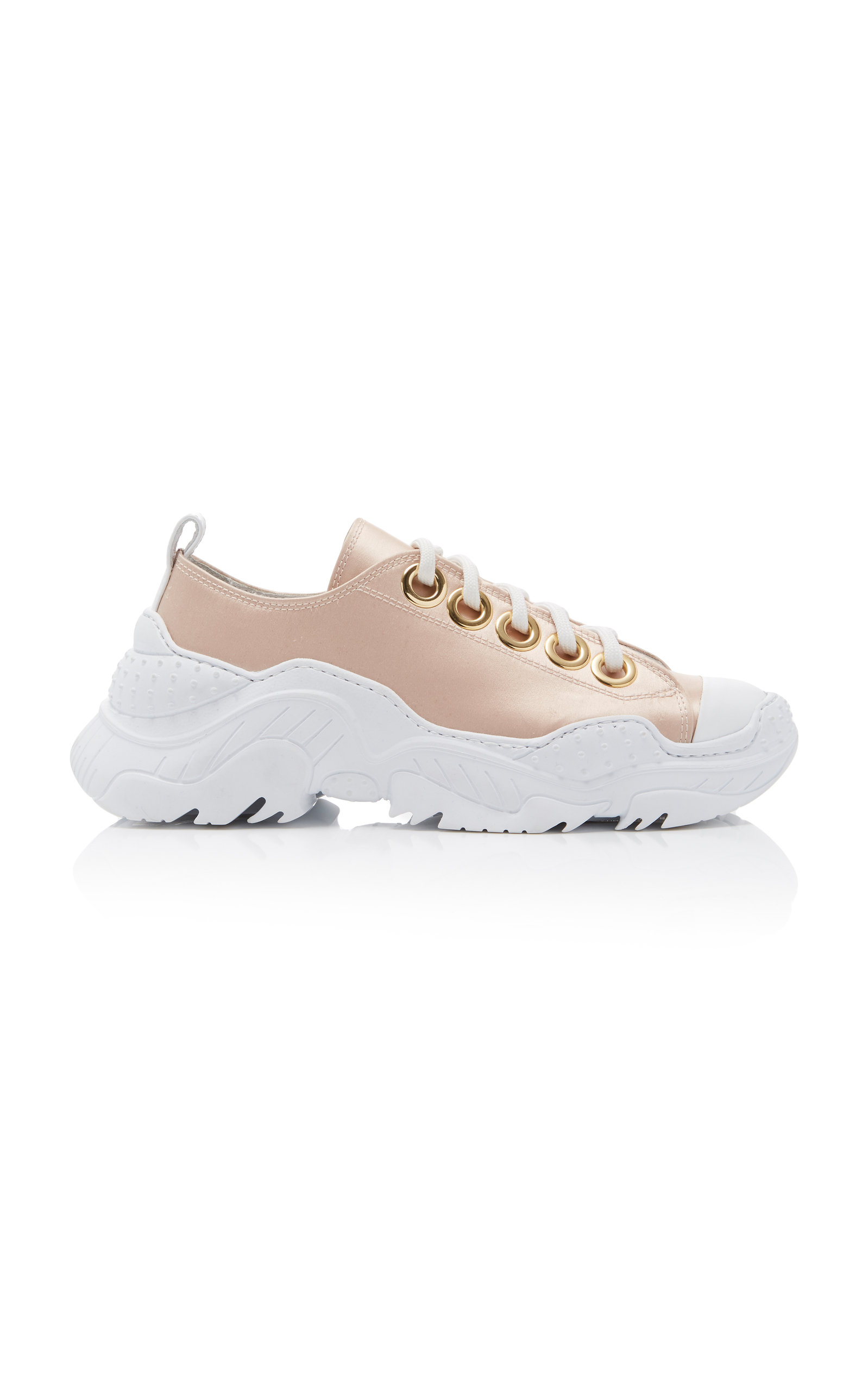 chunky lace-up sneakers - White N 3MT3nEy2
