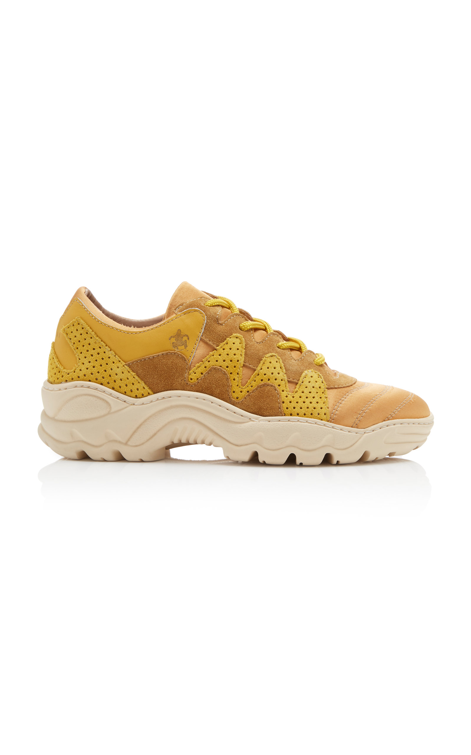 AN HOUR AND A SHOWER Creamy Platform Sneaker in Yellow