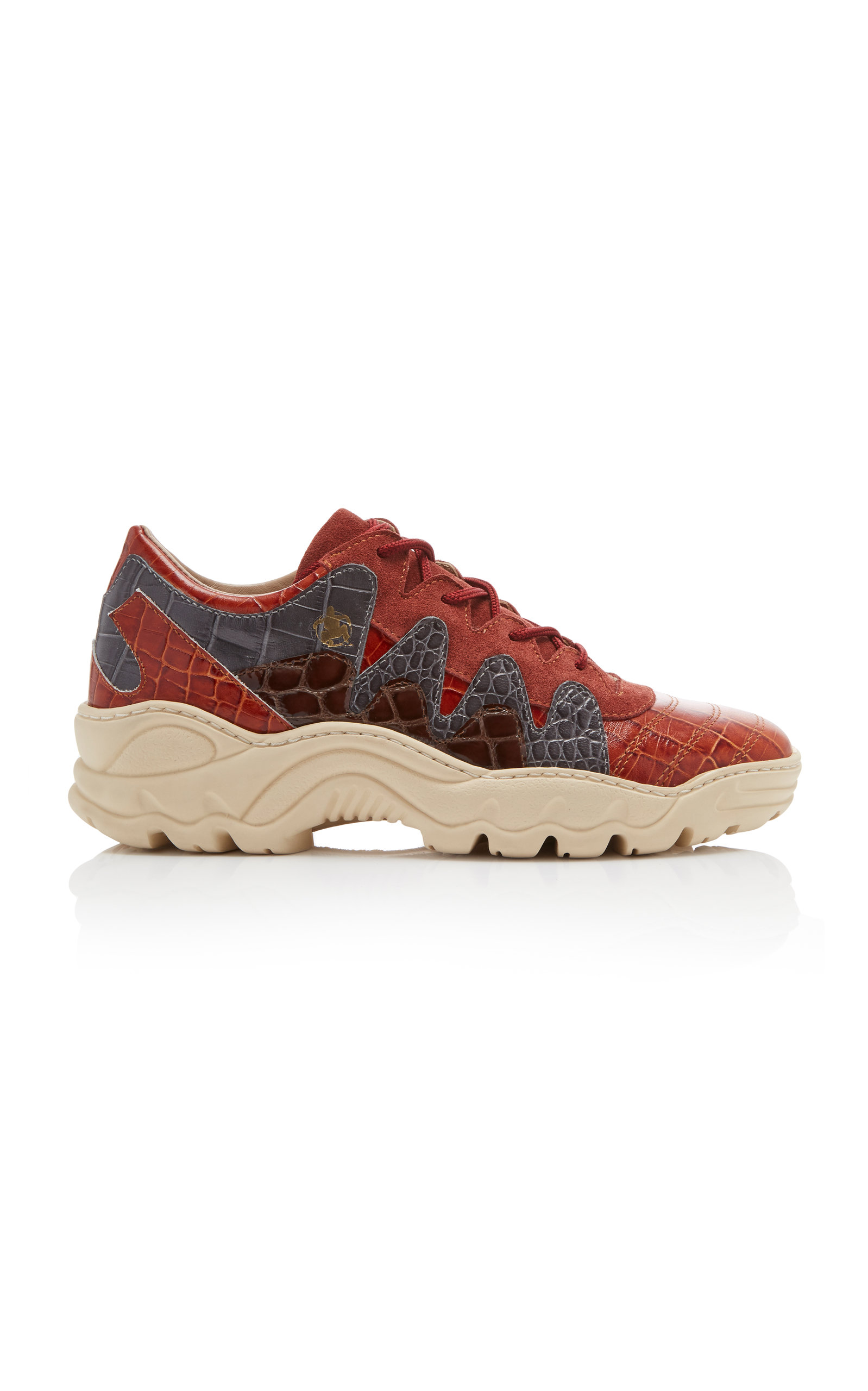 AN HOUR AND A SHOWER Creamy Platform Sneaker in Red