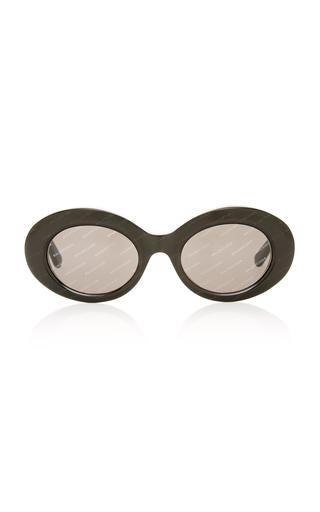 BALENCIAGA SUNGLASSES | Balenciaga Sunglasses Oval Acetate Sunglasses | Goxip