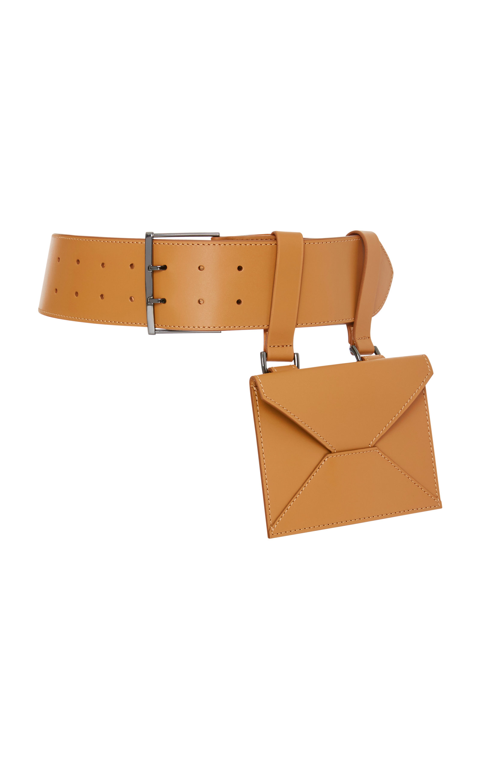 MAISON VAINCOURT M'O Exclusive Leather Belt Bag in Brown