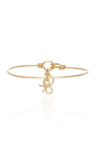 ATELIER PAULIN   Atelier Paulin Bow 14K Yellow Gold Bracelet   Goxip