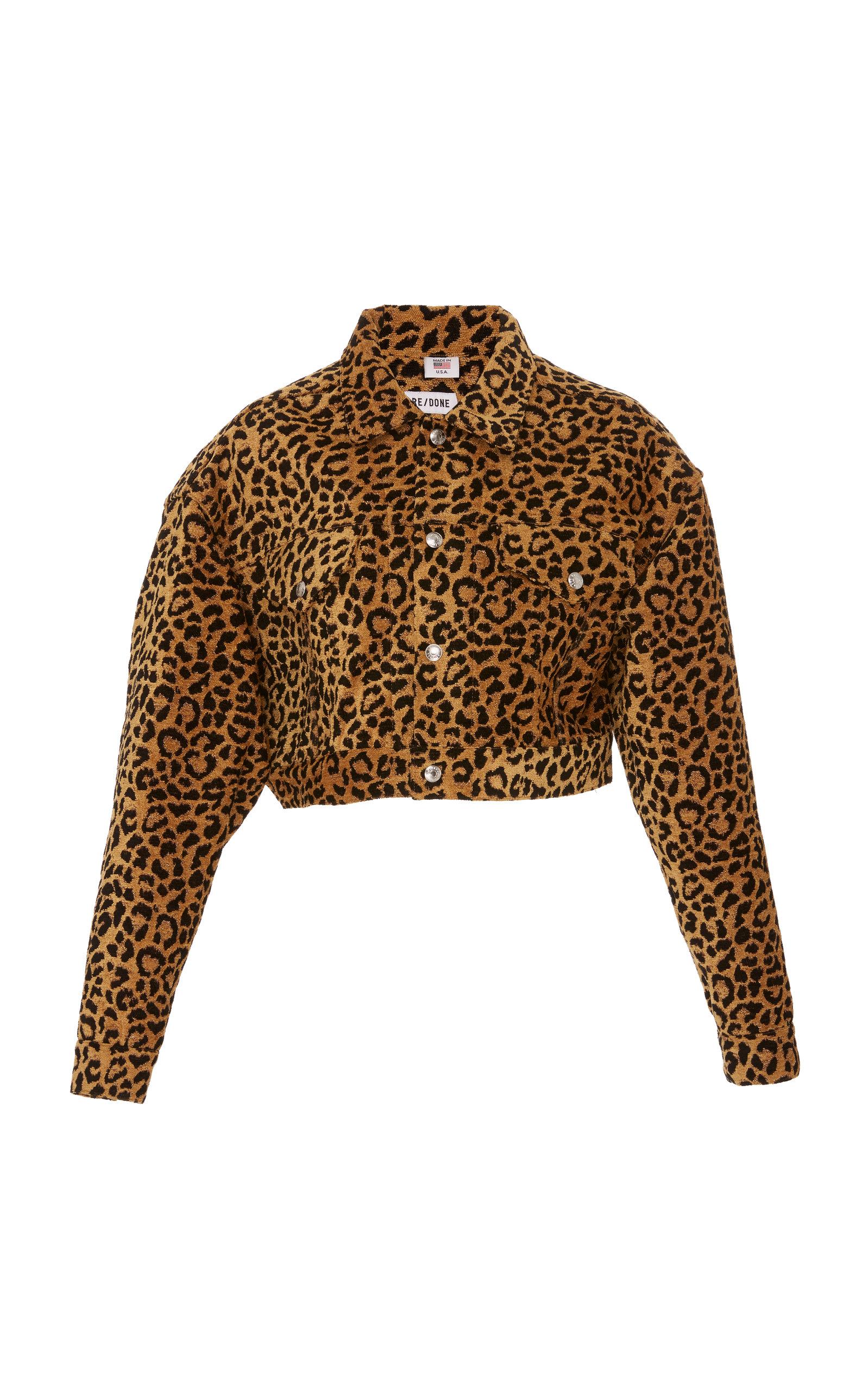 a1bf63b37421 Leopard Cropped Jacket by Re/done | Moda Operandi