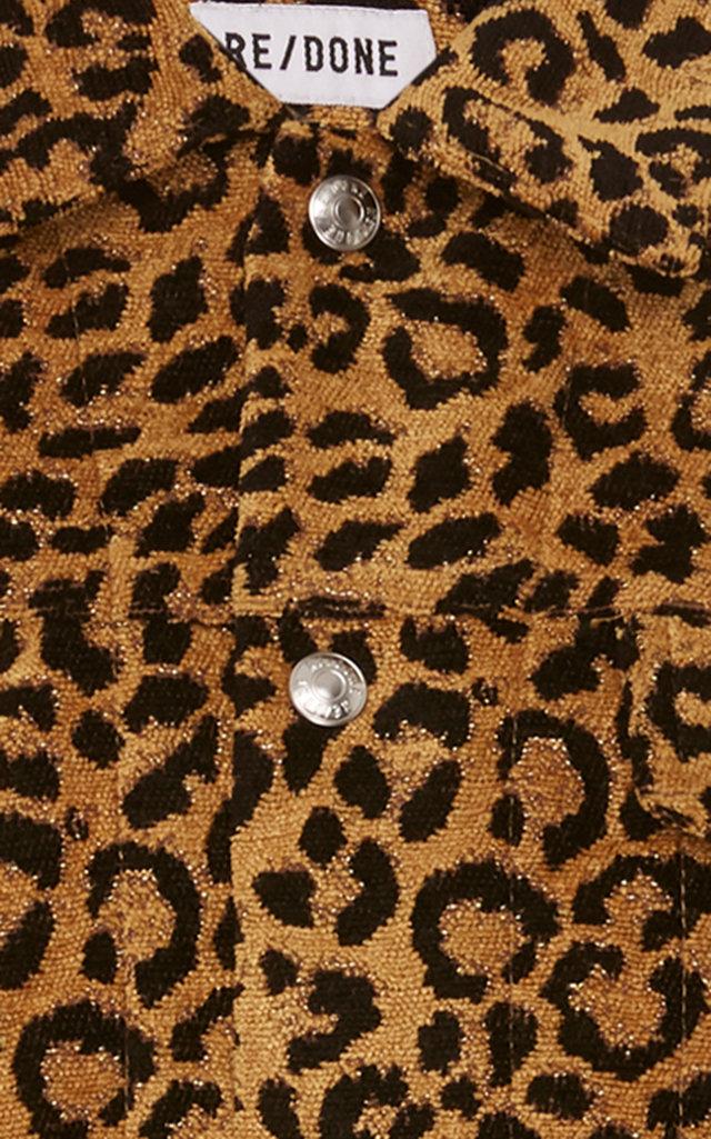 cf83f2af8a52 Re/doneLeopard Cropped Jacket. CLOSE. Loading. Loading. Loading