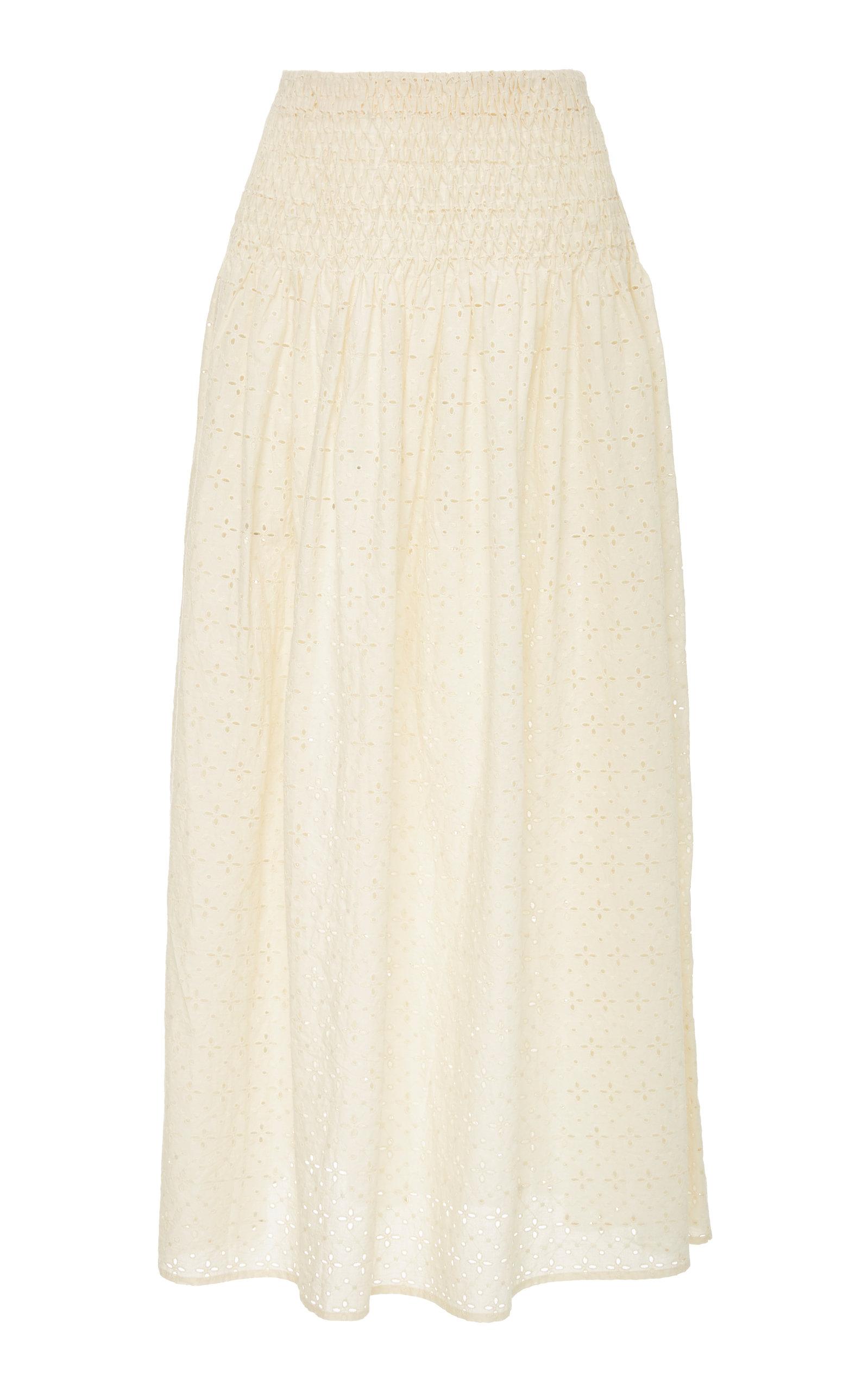 MARYSIA Abacos Midi Skirt in Neutrals