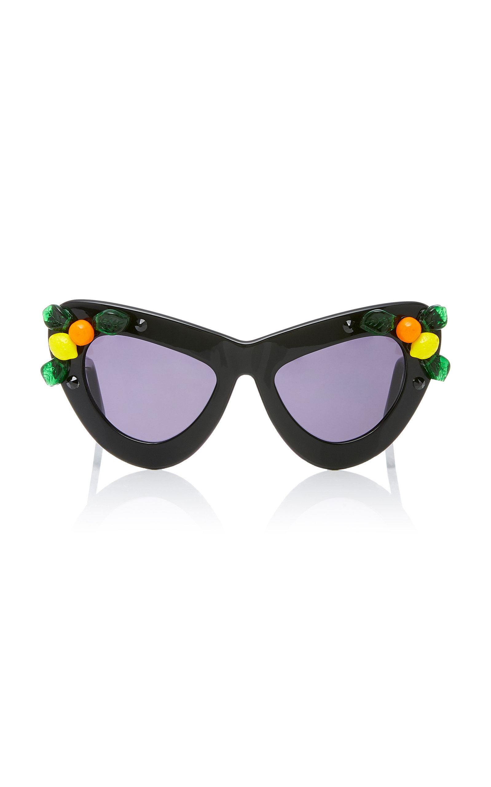 A-MORIR Citrus Cocktail Sunglasses in Black