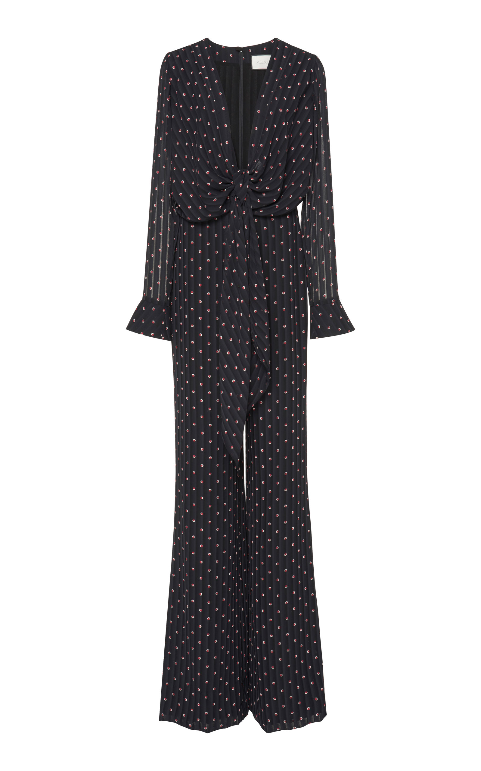 Shona Knot Front Jumpsuit in Navy