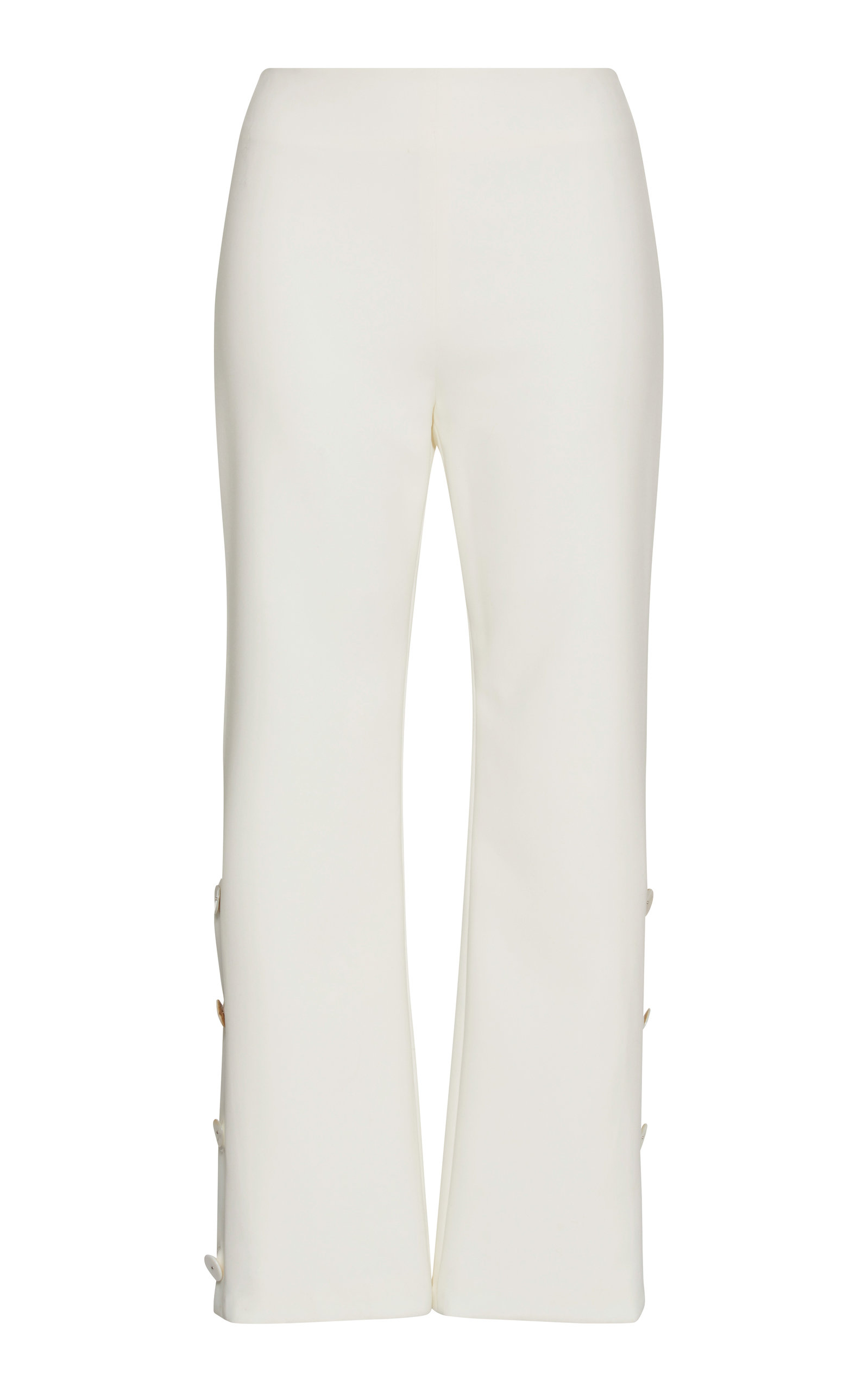 ALEXIS Larenz Flare-Leg Side-Button Cropped Pants in White