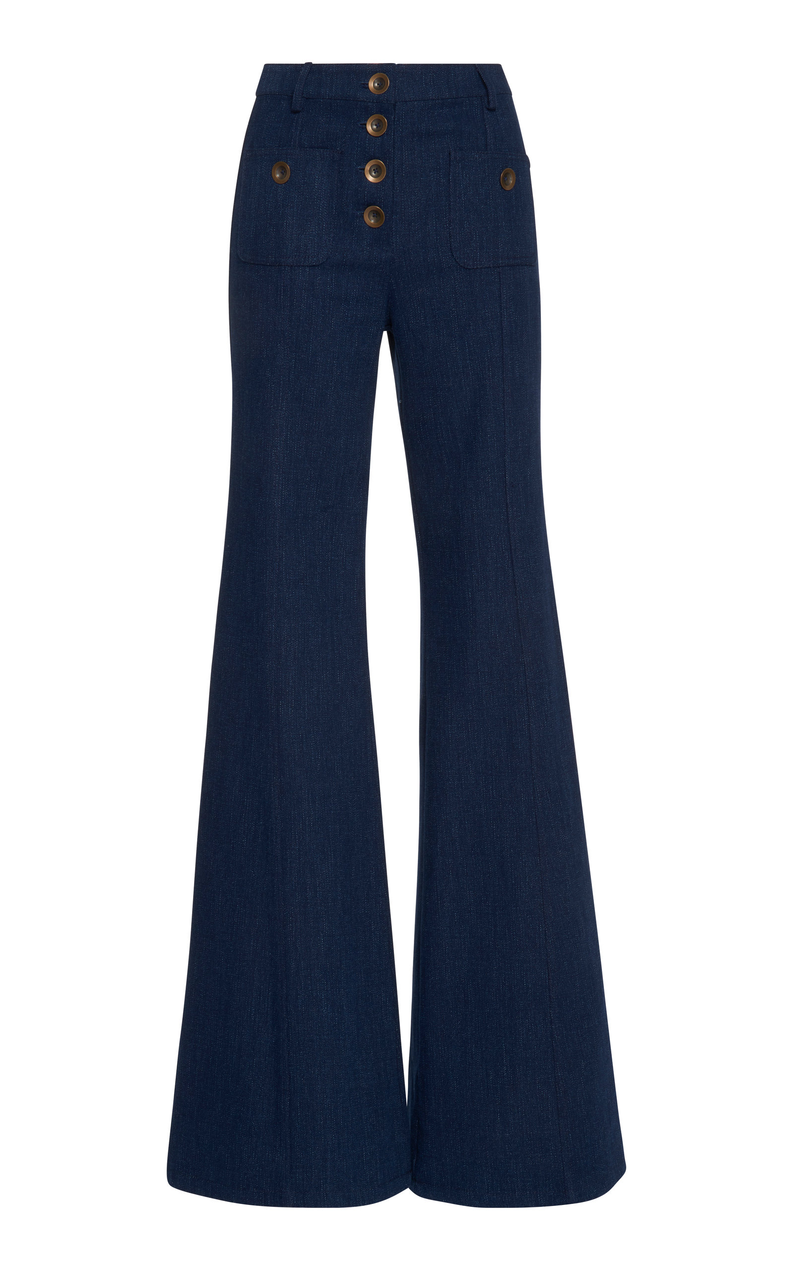 ALEXIS Ferris Wide Leg High-Waist Jeans in Denim