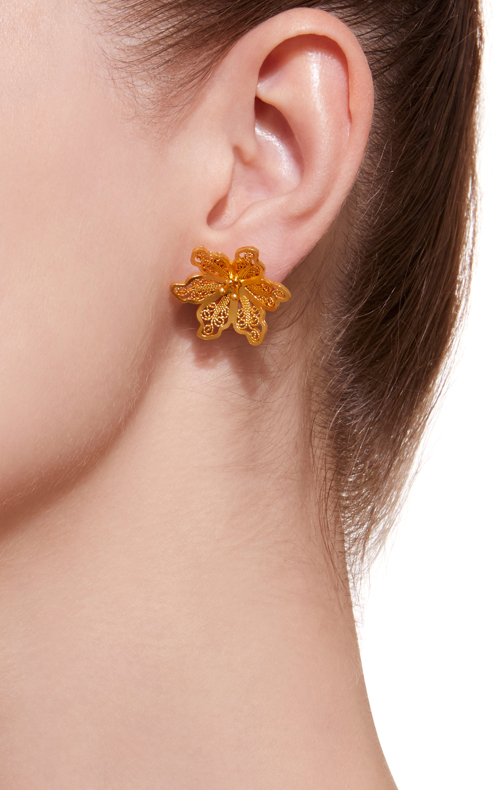 oliver bonas mismatched gold suez earrings jewellery