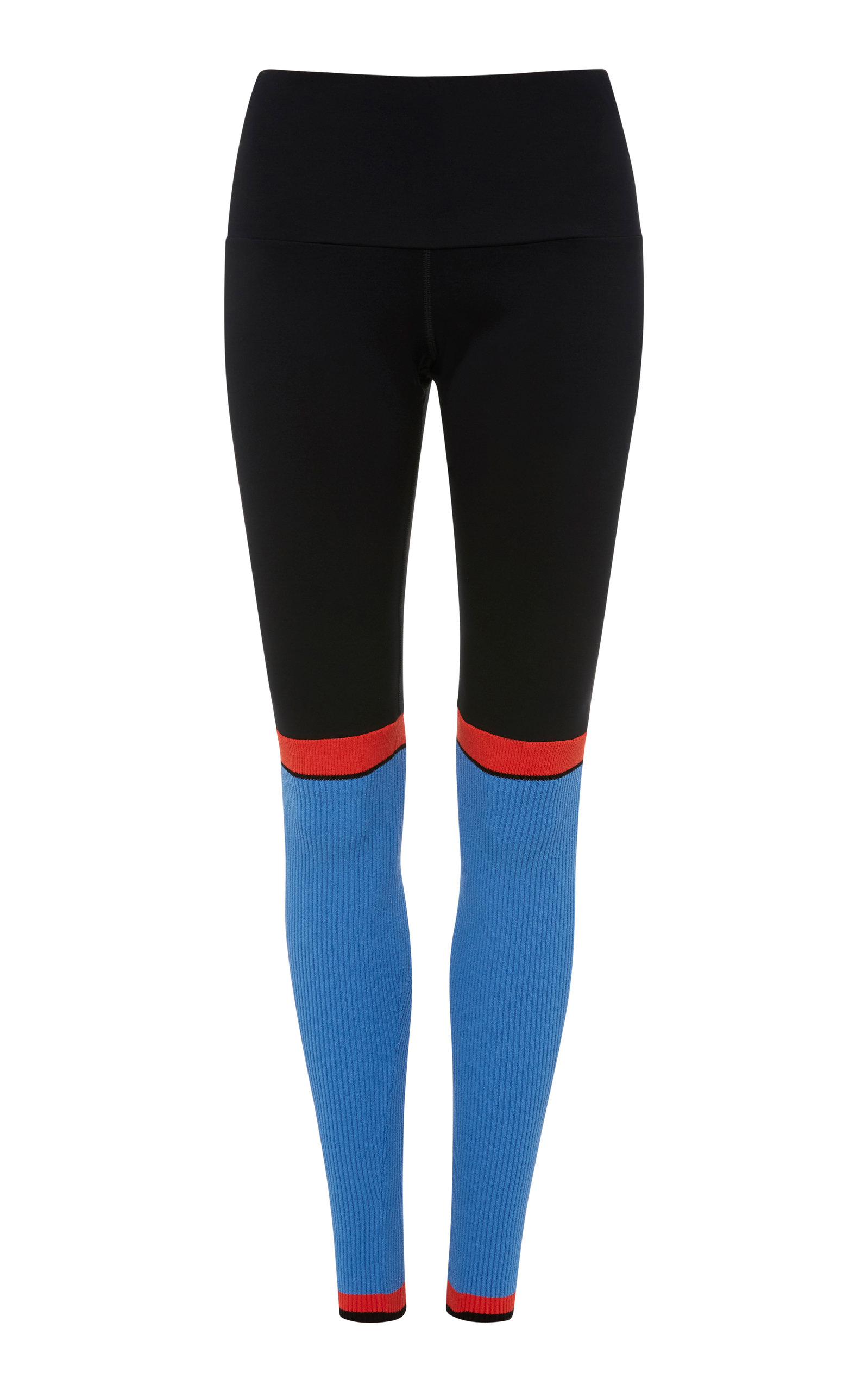 4254 SPORT High Waisted Ribbed Legging in Blue