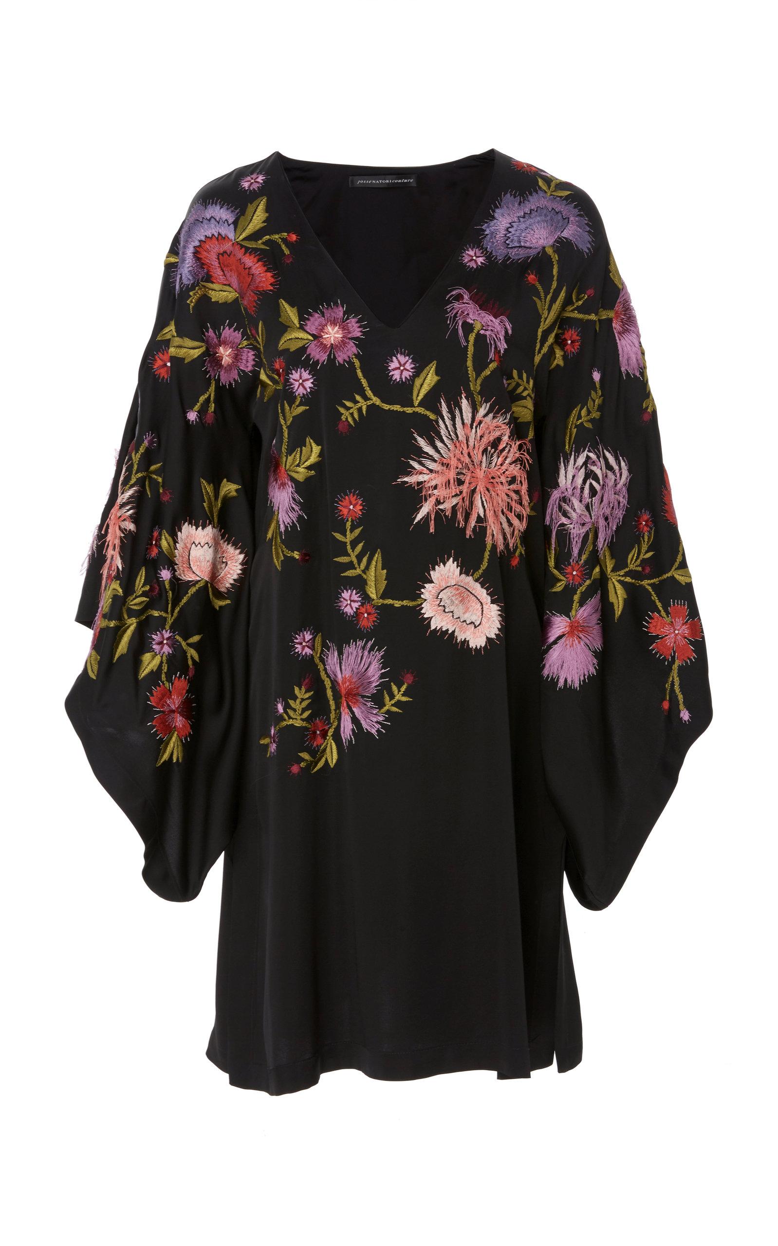 JOSIE NATORI COUTURE Kimono Top in Print