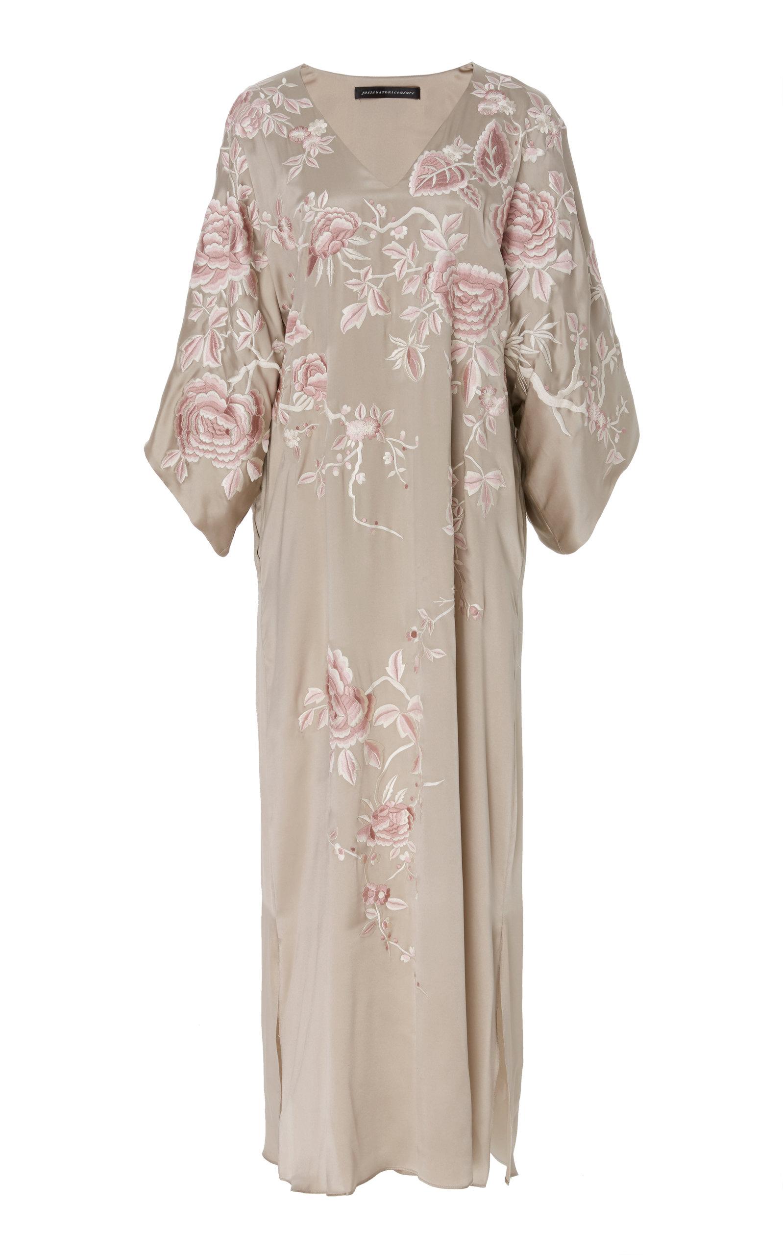 JOSIE NATORI COUTURE Kimono Caftan in Print