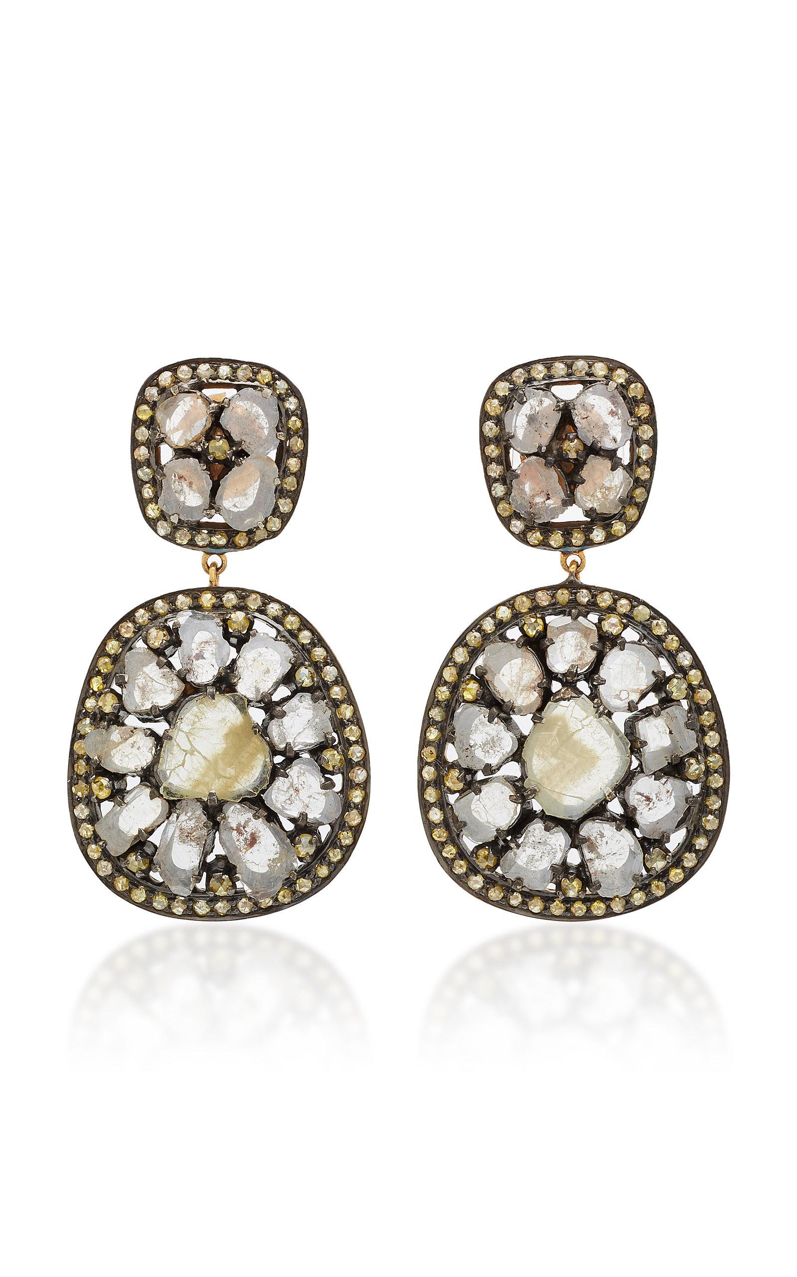 14K Gold Diamond And Bakelite Earrings Amrapali BrPrHJi