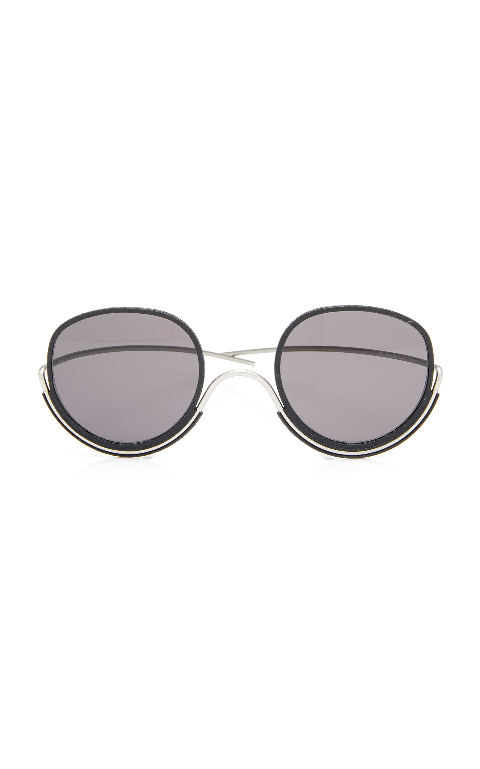 WIRES Coward'S Choice Metal Sunglasses in Black