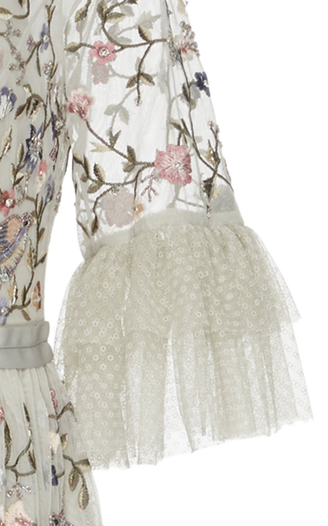 92fb1196035b Dusk Floral Embroidered Gown by Needle & Thread | Moda Operandi