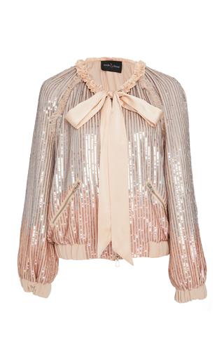 NEEDLE & THREAD | Needle & Thread Gloss Sequin Bomber Jacket | Goxip