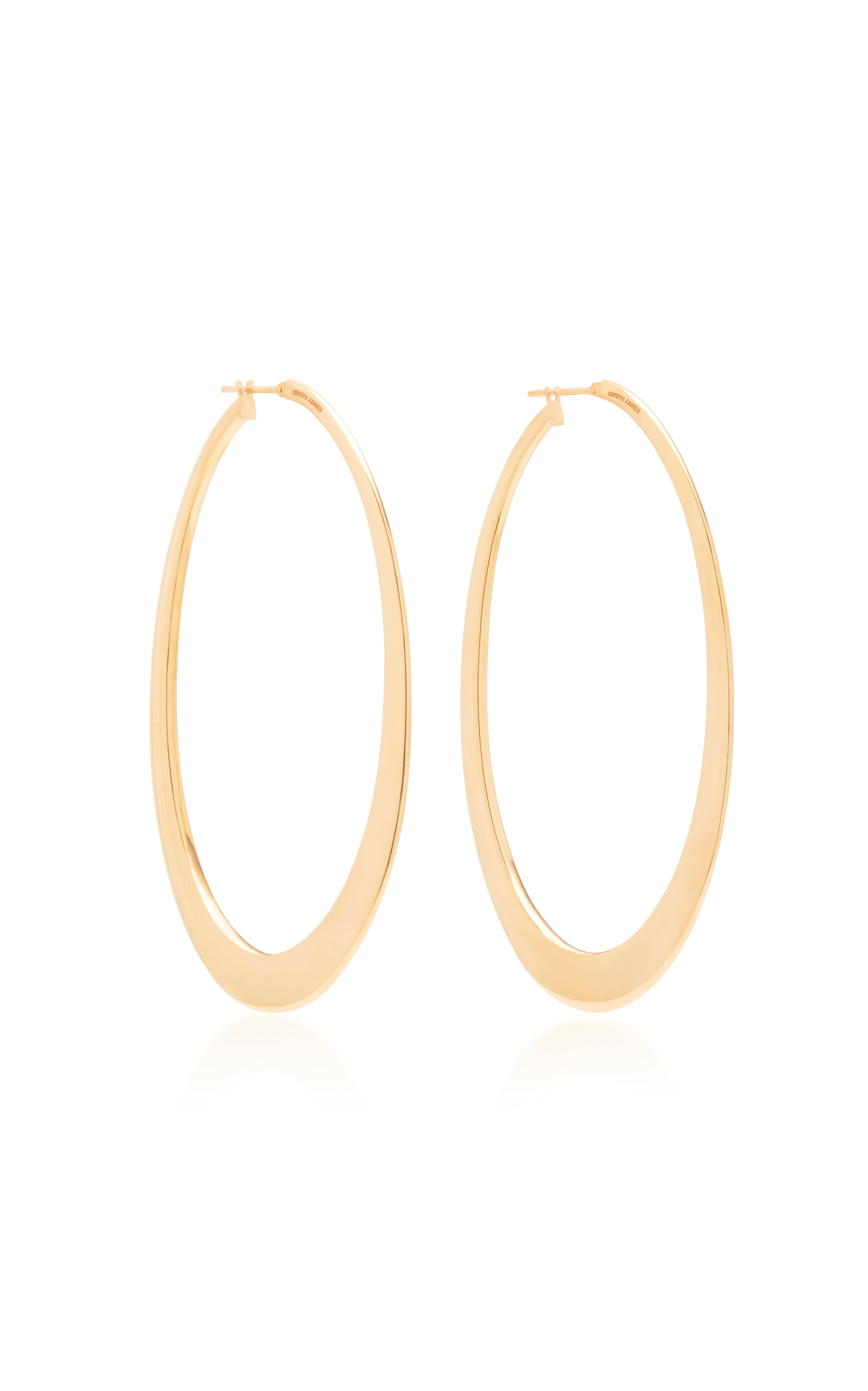 SIDNEY GARBER 18K Rose Gold Hoop Earrings in Pink