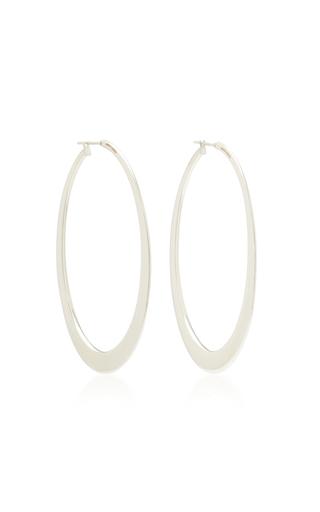 Sidney Garber18K White Gold Hoop Earrings