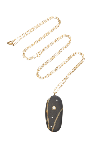 Free Shipping Low Shipping Pay With Visa MO Exclusive: 18K Gold Grey Beach Stone and Sapphire Drizzle Necklace CVC Supply Cheap Online Lowest Price Cheap Online Footaction For Sale TyUu9Hfhkq