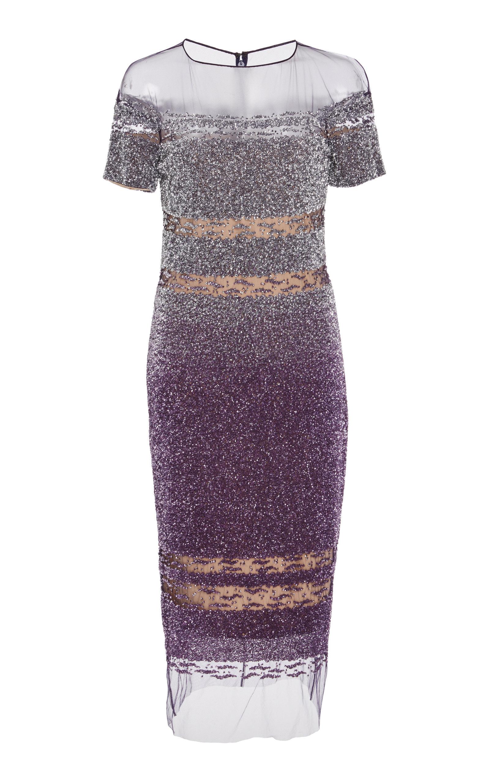Signature Sequin Sheer Hem Dress by Pamella Roland | Moda Operandi