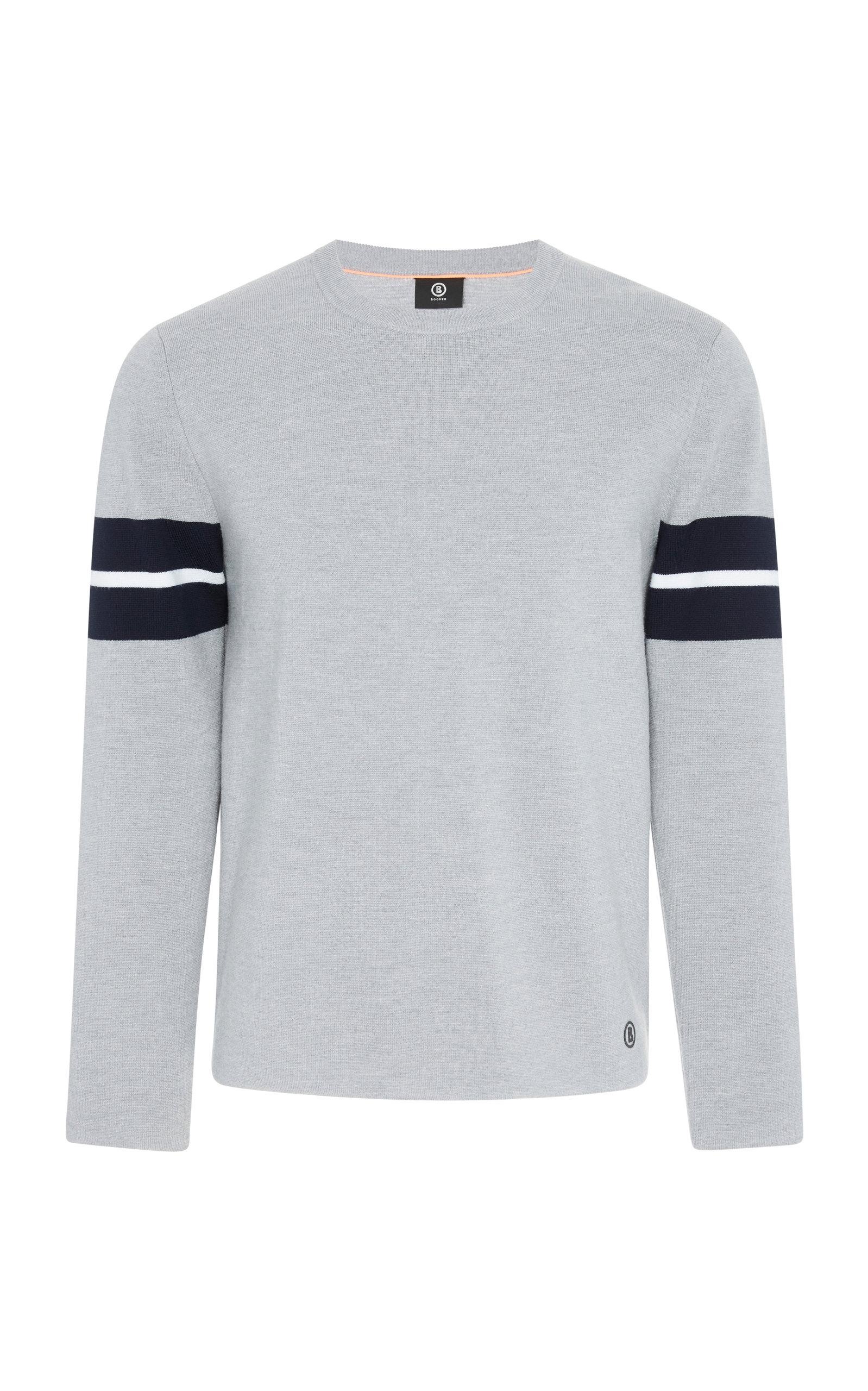 BOGNER X WHITE CUBE Alberto Striped Shirt in Grey