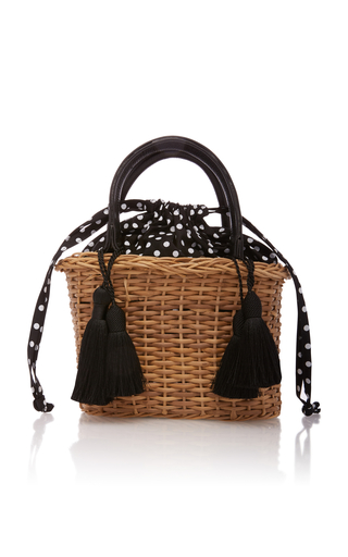 GLORINHA PARANAGUA | Glorinha Paranagua Small Wicker Palermo Bag | Goxip
