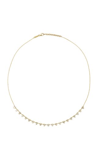 AS29 | AS29 Baguette Diamond & 18K Yellow Gold Necklace | Goxip