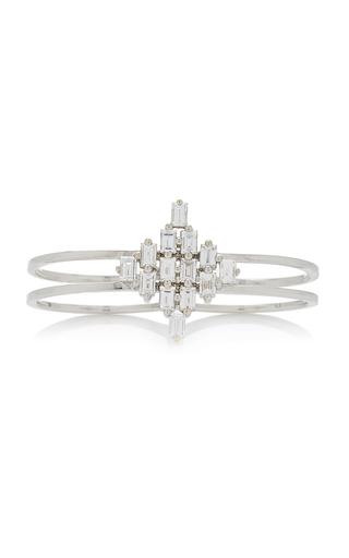 AS29 | AS29 Baguette Rhombus Diamond & 18K White Gold Two Finger Rings | Goxip