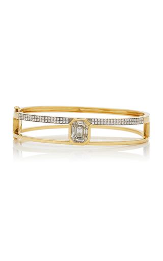 AS29 | AS29 Medium 16.5cm Yellow Gold and Illusion Diamond Bangle | Goxip