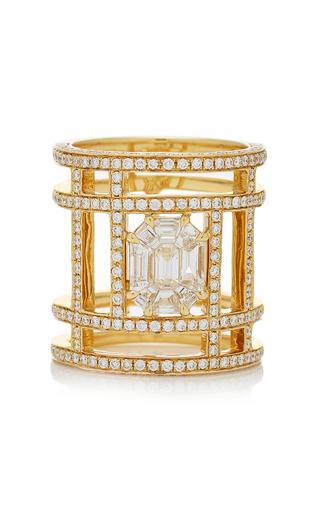 AS29 | AS29 Illusion Diamond & 18K Yellow Gold Tube Ring | Goxip