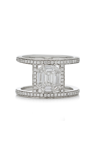 AS29 | AS29 Illusion Diamond & 18K White Gold Multi Band Ring | Goxip