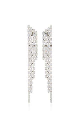AS29 | AS29 Baguette 4 Row Diamond & 18K White Gold Cascade Earrings | Goxip