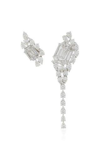 AS29 | AS29 Illusion Diamond & 18K White Gold Asymmetrical Earrings | Goxip