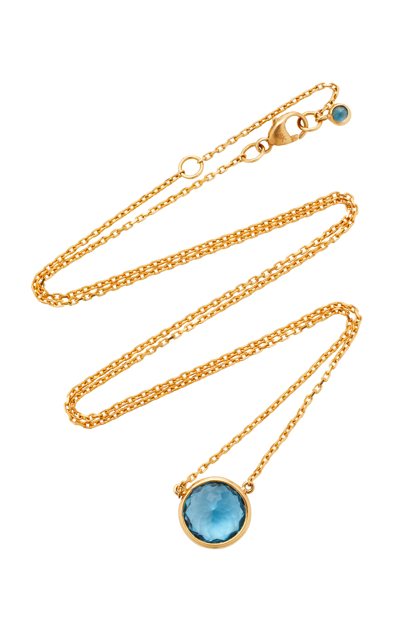YI COLLECTION 18K GOLD TOPAZ NECKLACE