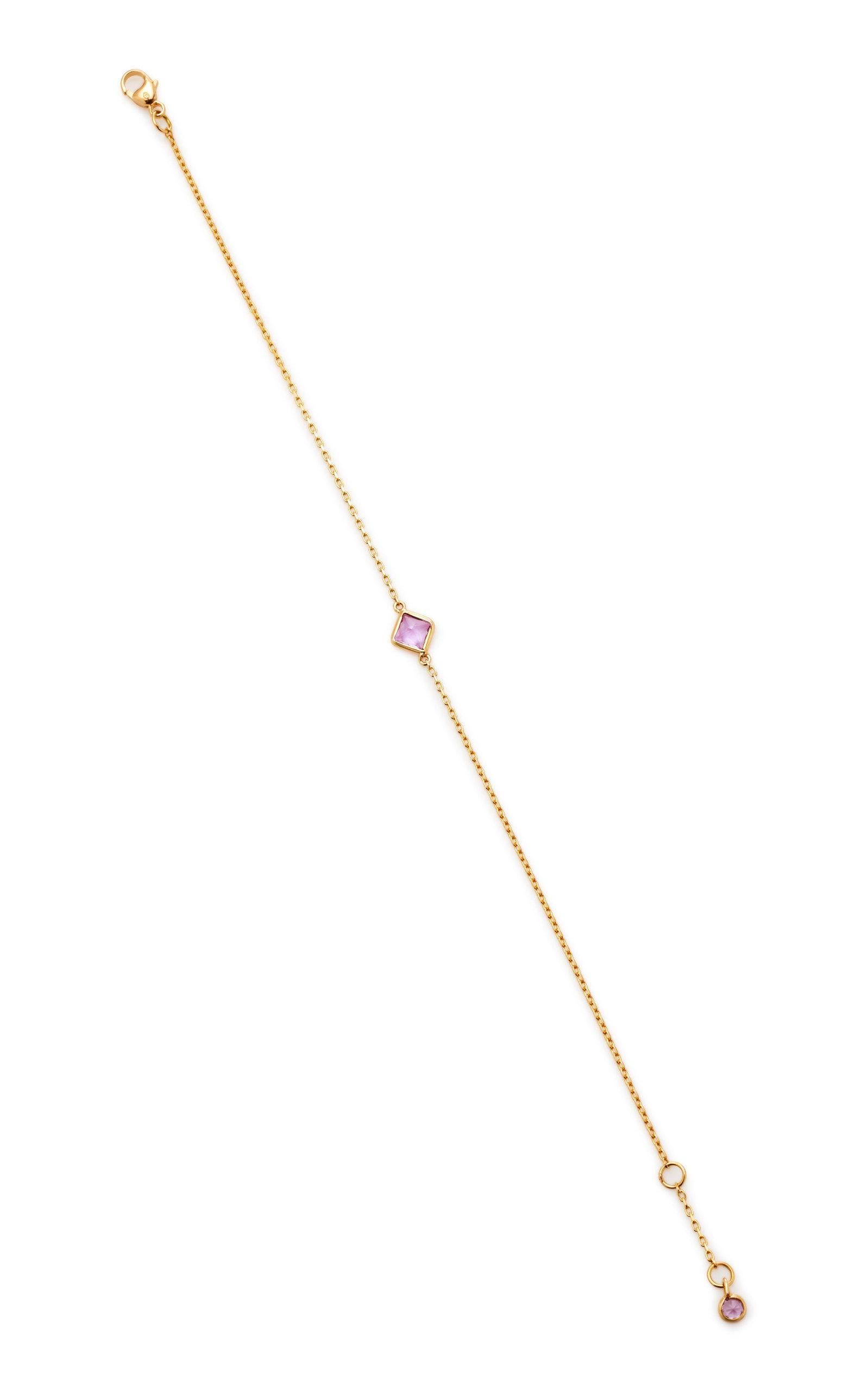 YI COLLECTION 18K GOLD PINK SAPPHIRE BRACELET