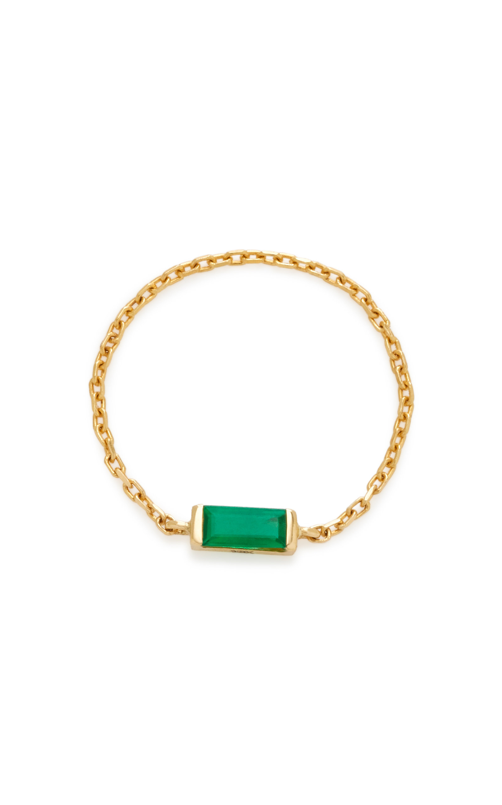 YI COLLECTION 18K EMERALD CHAIN RING