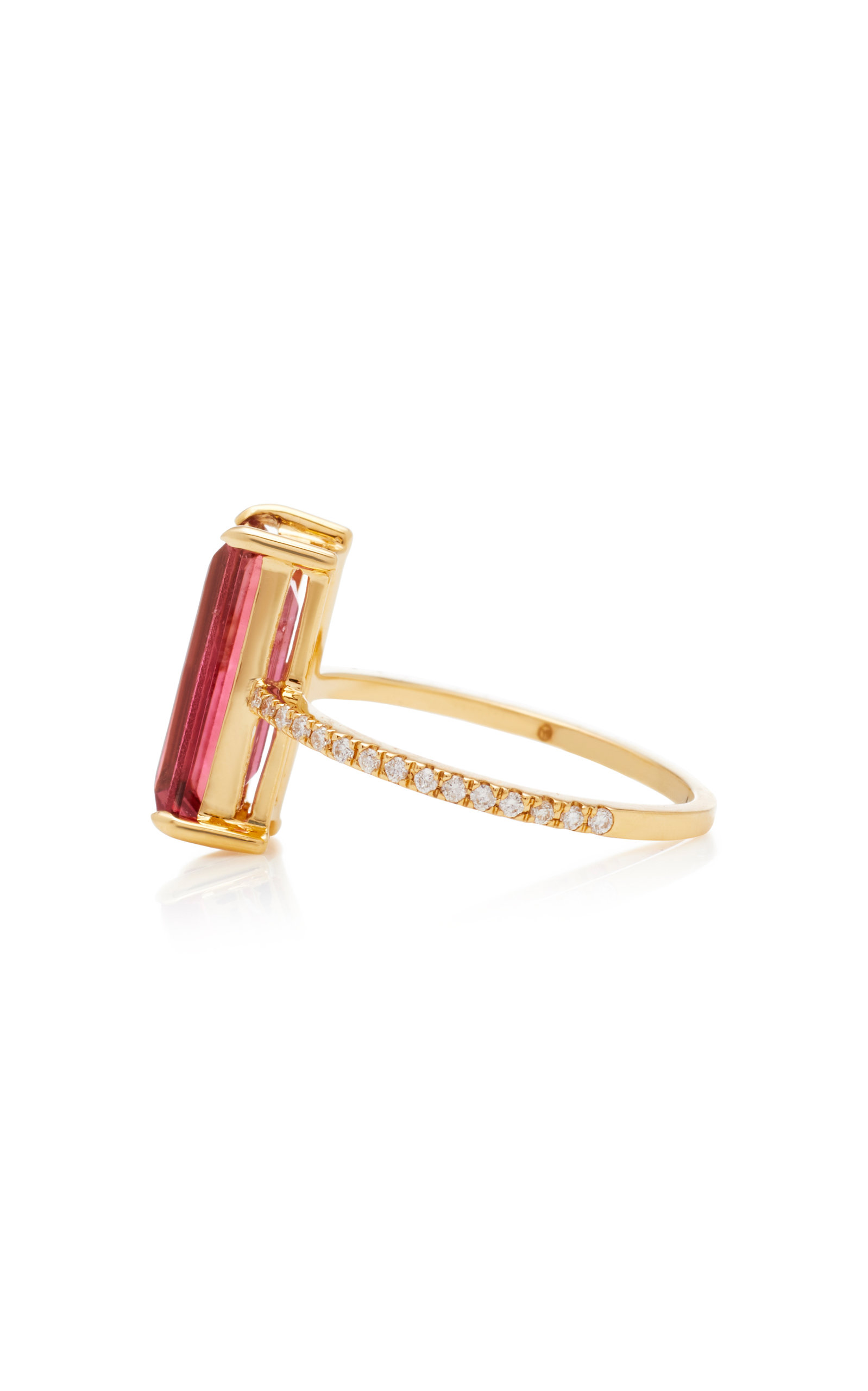 18K Gold Tourmaline And Diamond Ring Yi Collection