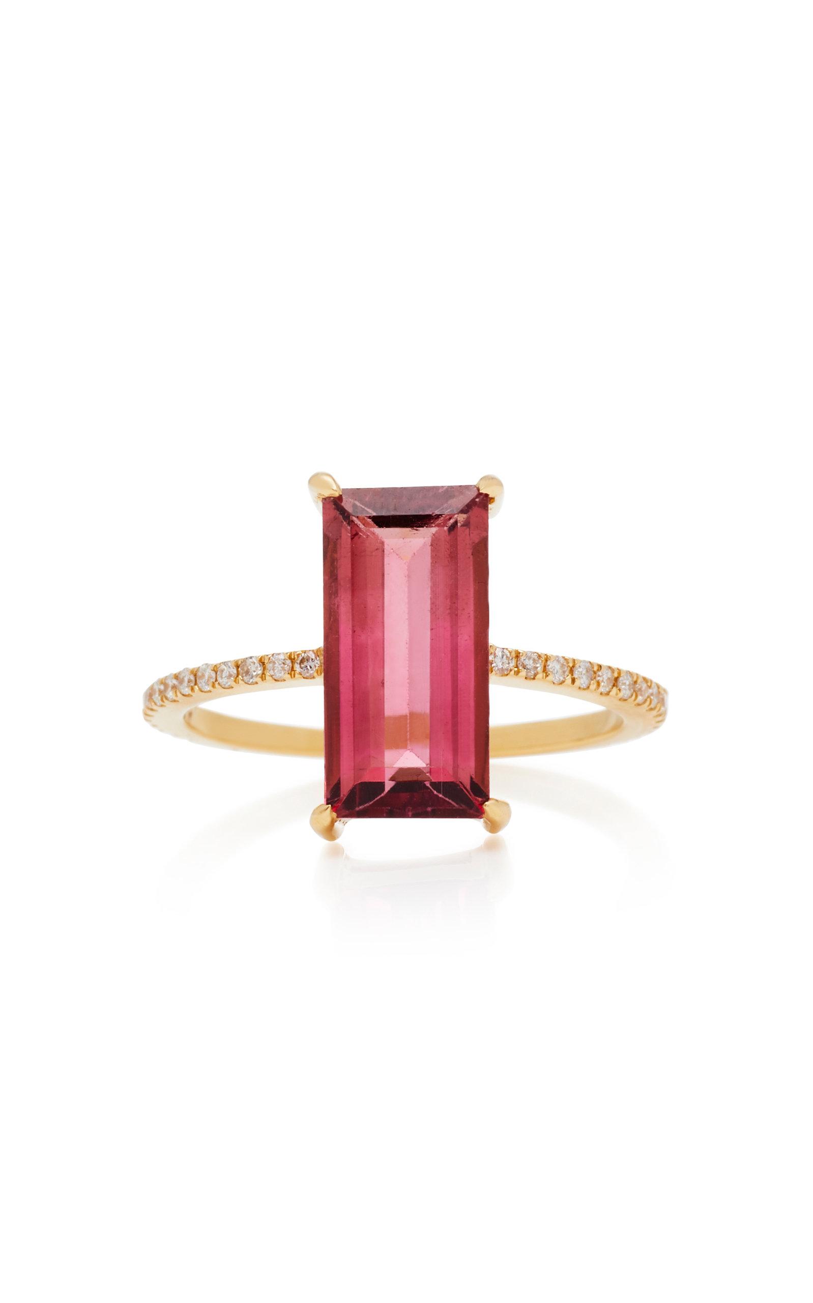 18K Gold Tourmaline And Diamond Ring Yi Collection fyIKPPiGM