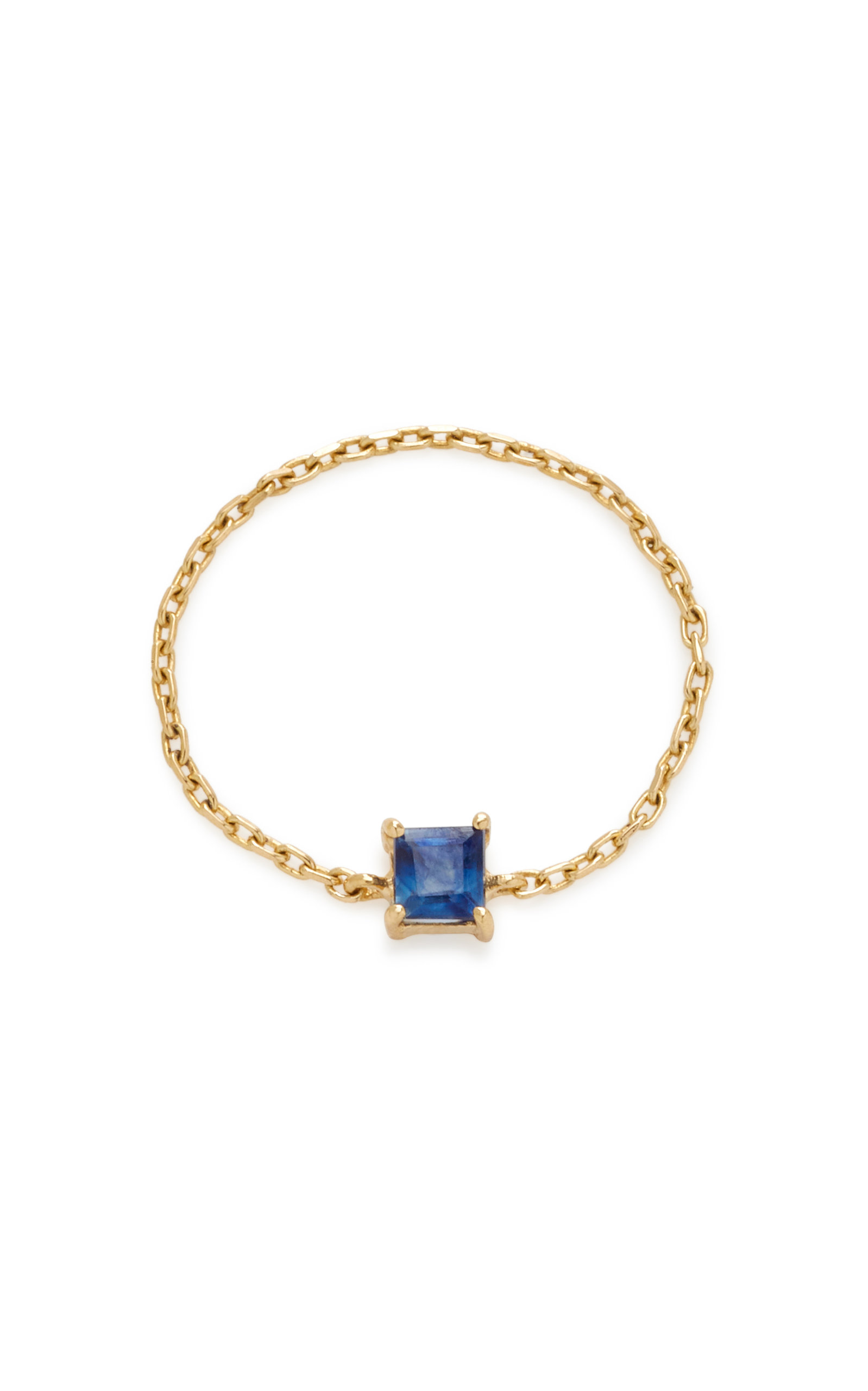 YI COLLECTION 18K GOLD SAPPHIRE RING
